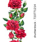 red roses flowers   floral... | Shutterstock . vector #723771214