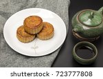 moon cakes and tea cups and