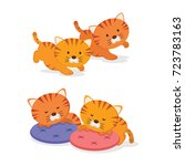 Stock vector twin kittens two little cute kittens on white background 723783163