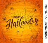 abstract orange halloween...   Shutterstock .eps vector #723783403