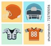 american football player...   Shutterstock .eps vector #723785056