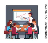 businessman in suit and tie... | Shutterstock .eps vector #723789490