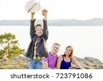 family in a park | Shutterstock . vector #723791086