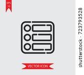 list vector icon  illustration...