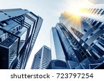 low angle shooting commercial... | Shutterstock . vector #723797254