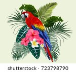 vector vintage composition with ... | Shutterstock .eps vector #723798790