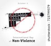violence kills lettering design ...   Shutterstock .eps vector #723799579