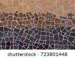 mosaic tiles wall for decor.... | Shutterstock . vector #723801448