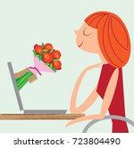 internet dating | Shutterstock .eps vector #723804490