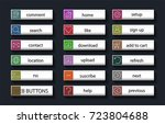 buttons for searching the... | Shutterstock .eps vector #723804688