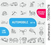 automobile line icons....   Shutterstock .eps vector #723805678