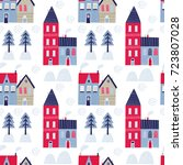 seamless vector pattern with... | Shutterstock .eps vector #723807028