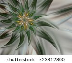 Green Mysterious Spiral Flower