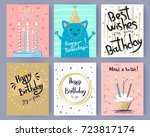 happy birthday collection of... | Shutterstock .eps vector #723817174