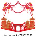 mid autumn festival for chinese ... | Shutterstock . vector #723823558
