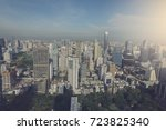bangkok city skyline with urban ... | Shutterstock . vector #723825340