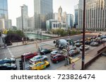 chicago  il  sept. 23  2017 ... | Shutterstock . vector #723826474