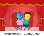 illustration of stickman kids... | Shutterstock .eps vector #723829780