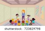illustration of stickman kids... | Shutterstock .eps vector #723829798
