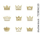 golden house line icon. can be... | Shutterstock .eps vector #723836110