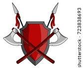 coat of arms heraldic shield...   Shutterstock .eps vector #723838693
