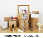 moving house concept   Shutterstock . vector #723839848