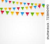 minimalistic festive birthday... | Shutterstock .eps vector #723840490