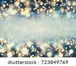 abstract christmas lights on... | Shutterstock . vector #723849769