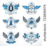 vintage decorative heraldic... | Shutterstock .eps vector #723850474