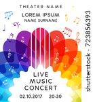 music concert poster design.... | Shutterstock .eps vector #723856393