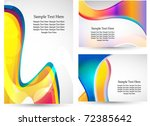 multicolor business template | Shutterstock .eps vector #72385642