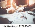 group of business partnership... | Shutterstock . vector #723858403