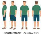 fashion man isolated  front ...   Shutterstock .eps vector #723862414