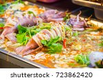 different thailand street food... | Shutterstock . vector #723862420