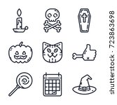 halloween icon set | Shutterstock .eps vector #723863698