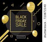 vector illustration of black... | Shutterstock .eps vector #723872140