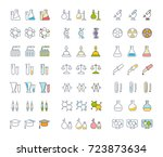 set vector line icons  sign and ... | Shutterstock .eps vector #723873634