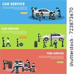 car service advertising shiny... | Shutterstock .eps vector #723873670