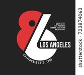 california  los angeles... | Shutterstock .eps vector #723874063