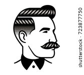 retro man hairstyle with... | Shutterstock .eps vector #723877750