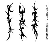 tattoo tribal vector design.... | Shutterstock .eps vector #723879874