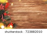 christmas holiday background  | Shutterstock . vector #723882010