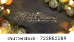 christmas and new year s... | Shutterstock . vector #723882289