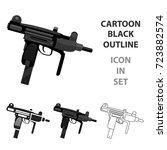 uzi weapon icon cartoon. single ... | Shutterstock .eps vector #723882574
