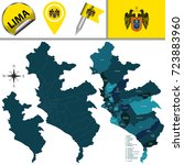 vector map of lima with named... | Shutterstock .eps vector #723883960
