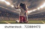 soccer players celebrate a... | Shutterstock . vector #723884473