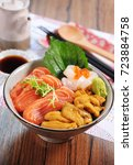 Sea Urchin Salmon Rice Bowl