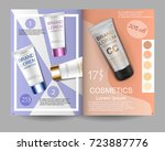 cosmetics. journal page. sale....   Shutterstock .eps vector #723887776