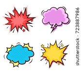 comic speech bubble set. pop... | Shutterstock .eps vector #723887986