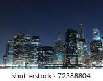 view of manhattan skyline from... | Shutterstock . vector #72388804